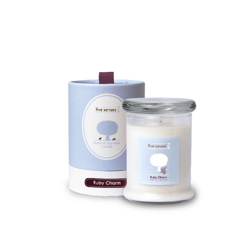 Natural Soy Wax Candle – Ruby Charm