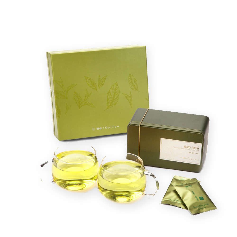 Classic Emerail Green Tea & Cup Gift Set