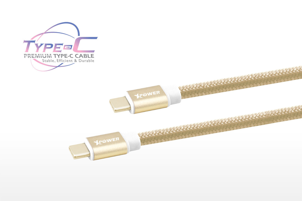2nd Gen. 1.2m Type-C to Type-C  Aluminium Alloy Cable (Gold)