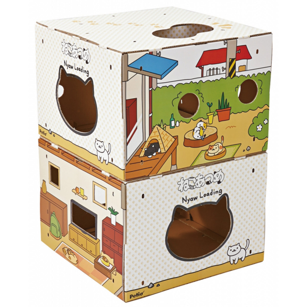 Kitty Collector BOX Tower Yard & Wood Deck (W25283)
