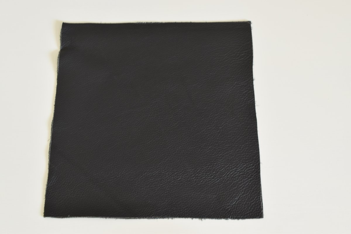 "Part Real Leather Bed 36""(W) x 72""(L)-Black  (with installation)"