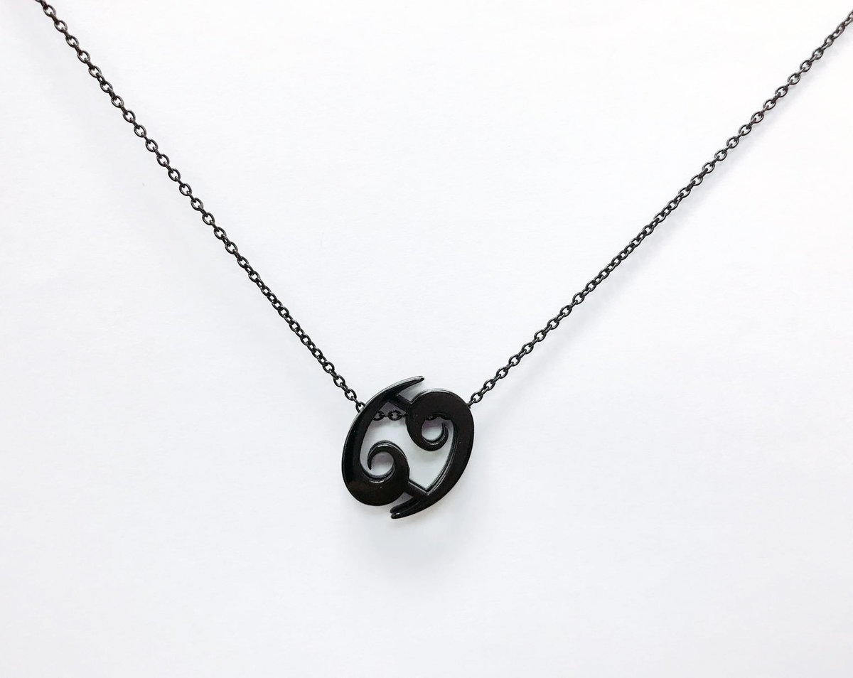 Cancer SS Necklace - Black
