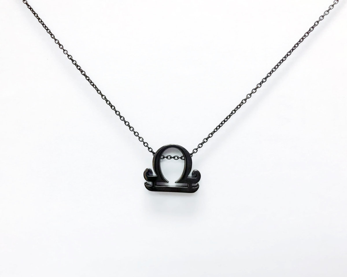 Libra SS Necklace - Black