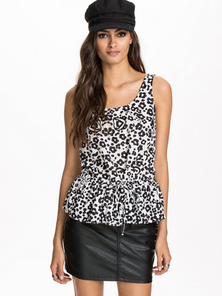 Peplum drawstring top