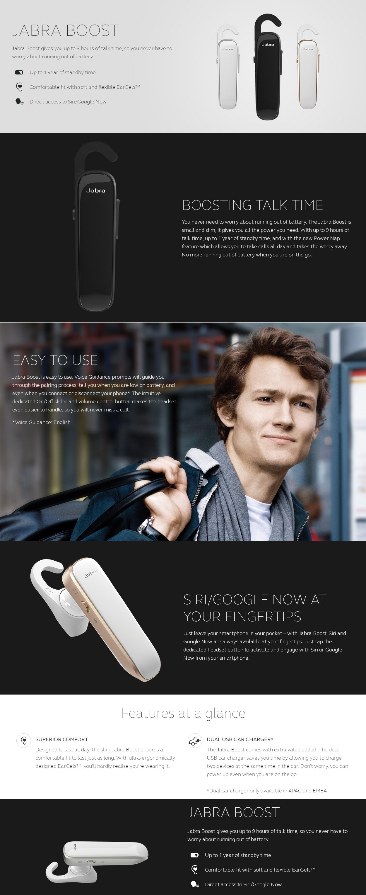 Jabra Boost All Day Bluetooth Headset White Hktvmall Online You May Also Like