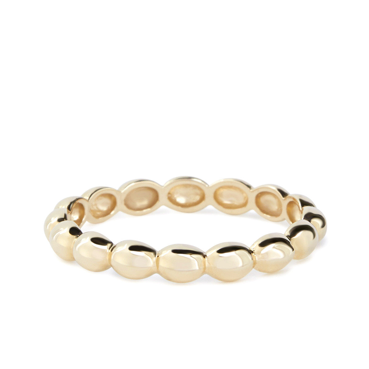Oval balls ring (Gold)_FR0178