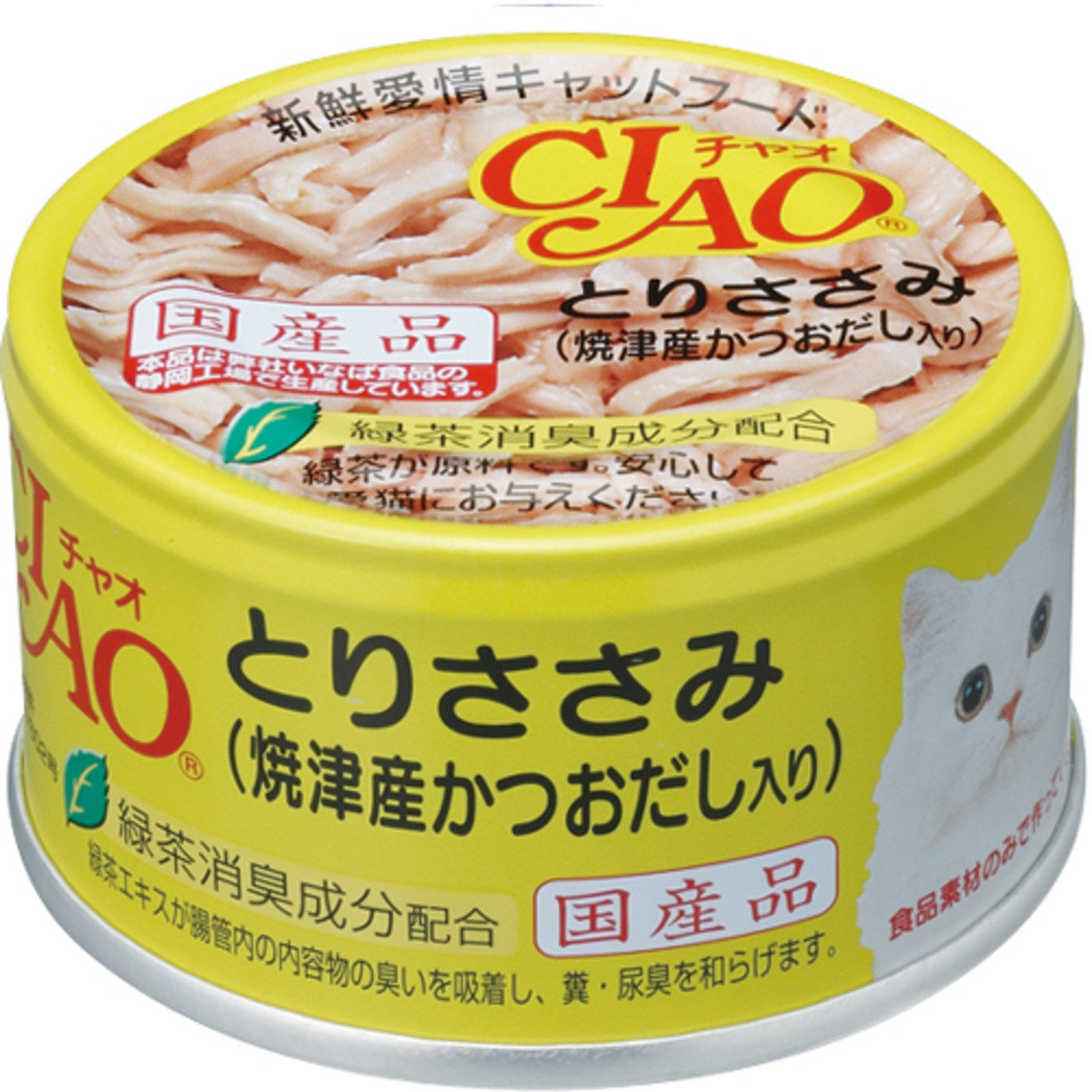 CIAO Chicken with green tea 85g C-60 (06095) (Import from Japan)