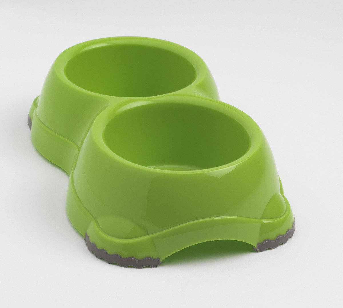 MPH106-08 Double Smarty Bowl H106 (Non-slip feet) - Light Green