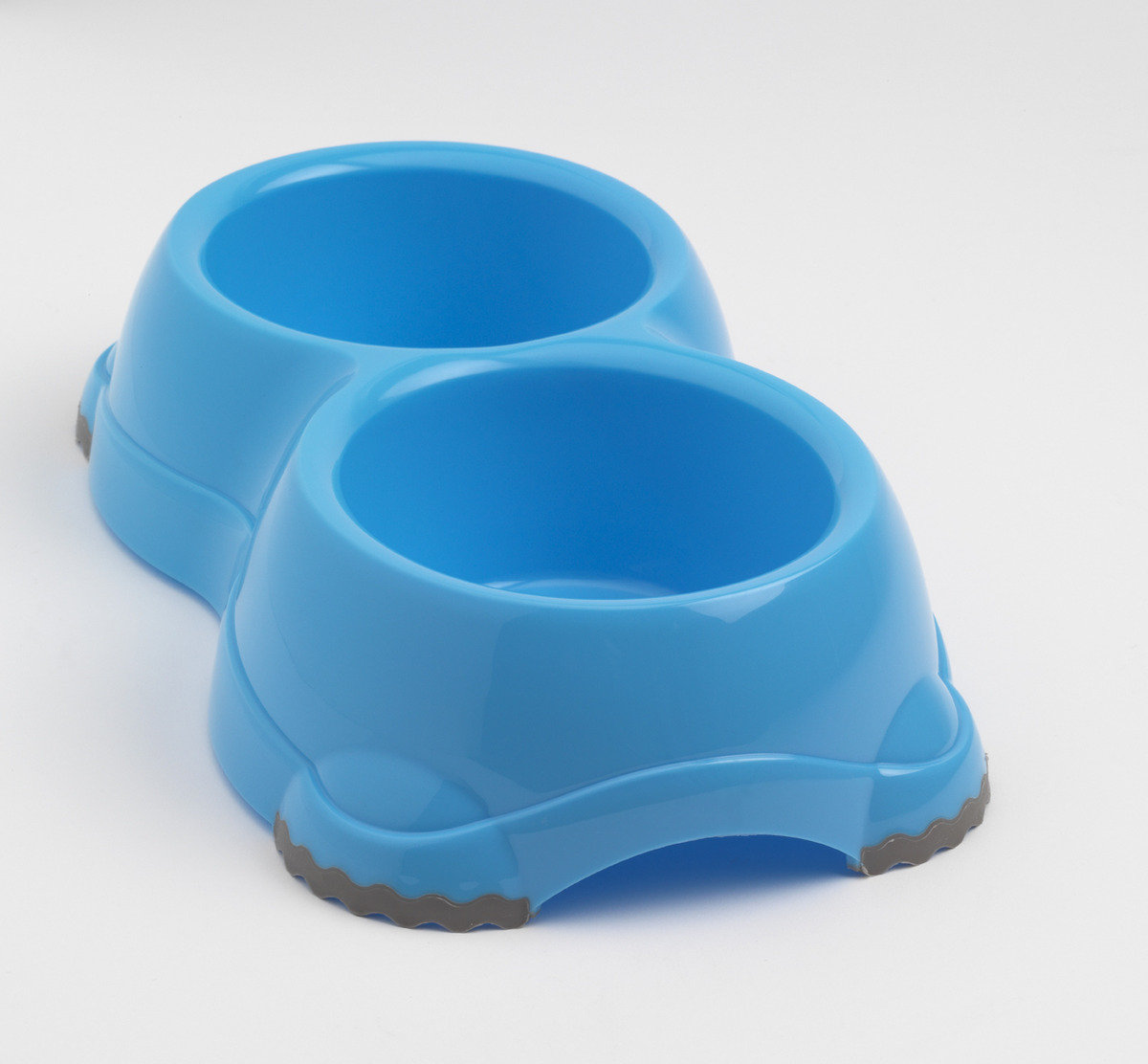 MPH106-119 Double Smarty Bowl H106 (Non-slip feet) - Blue (Import from Europe)