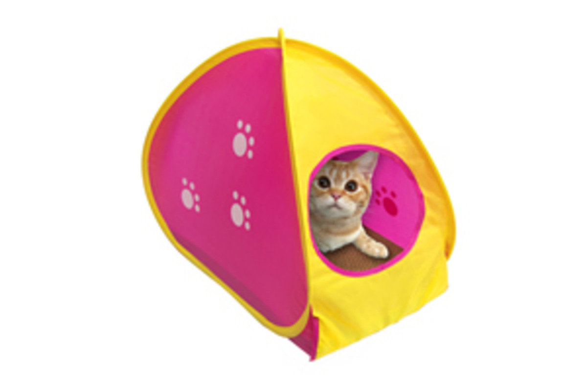 MARUKAN Cat Tent with catch plate (54296) (Import from Japan)