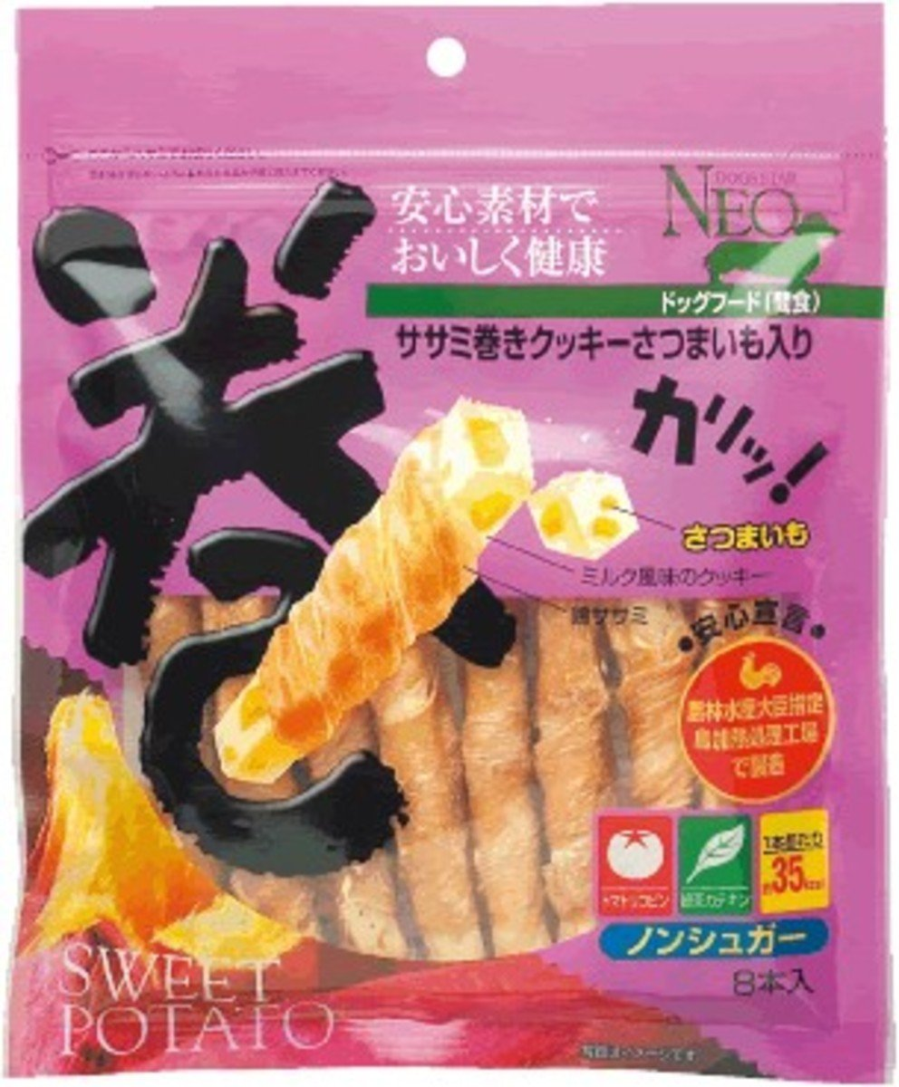 CS NEO chicken breast roll cookies - sweet potatoes 8pcs (40318) (Import from Japan)