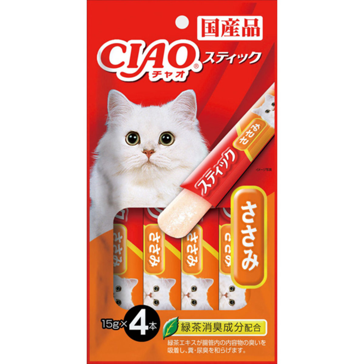 INABA Chicken & Scallops Jelly Stick with Green Tea 4SC-83 (45308) (Import from Japan)