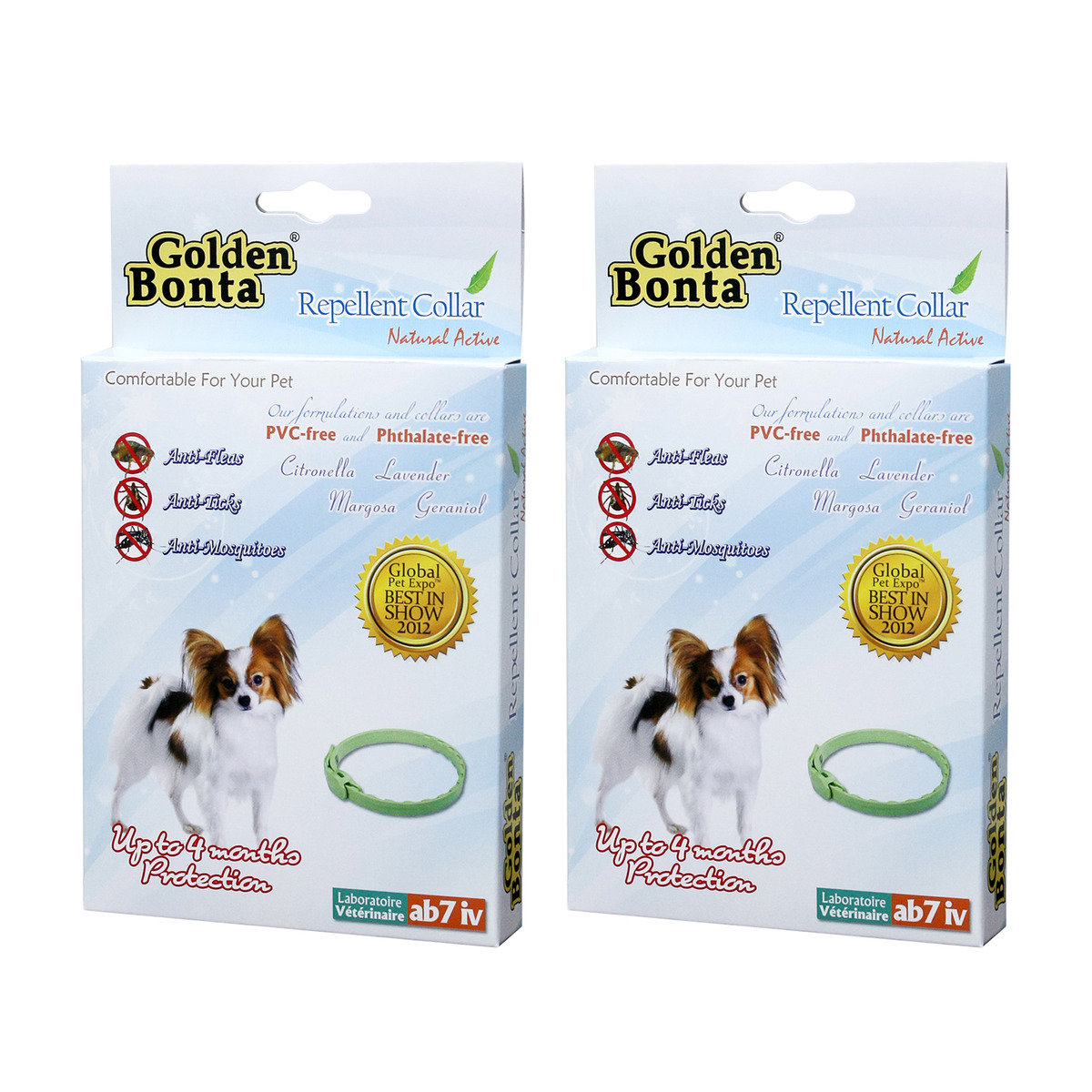 Repellent Collar for Small dogs x 2 (GBR-02-2)