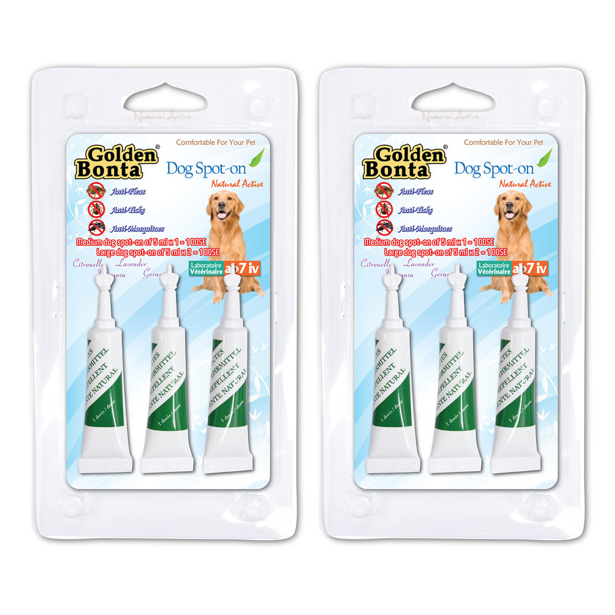 Repellent drop for Large dogs x 2 (GBR-13-2)