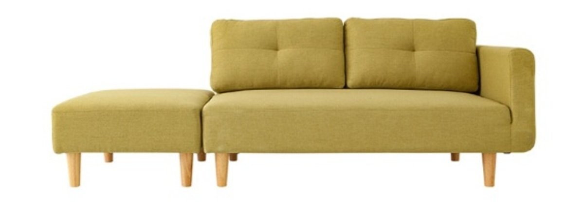 Style Design Sofa with Ottoman- Green