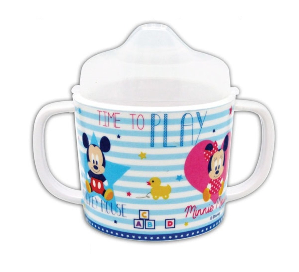 Disney迪士尼 --Melamine 3 baby cuo w/lid (Licensed by Disney)