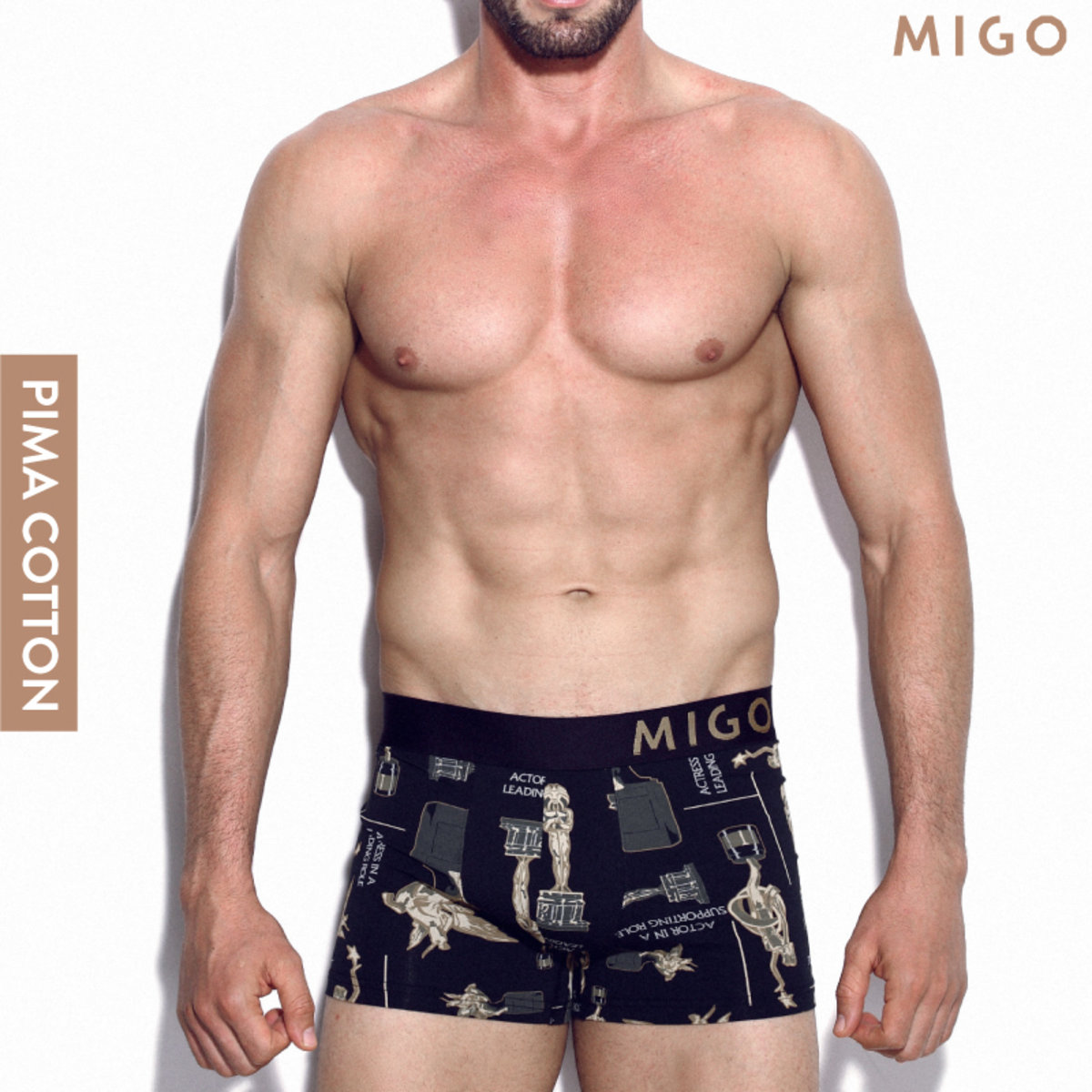 Cotton Pattern Trunk (Award Black)