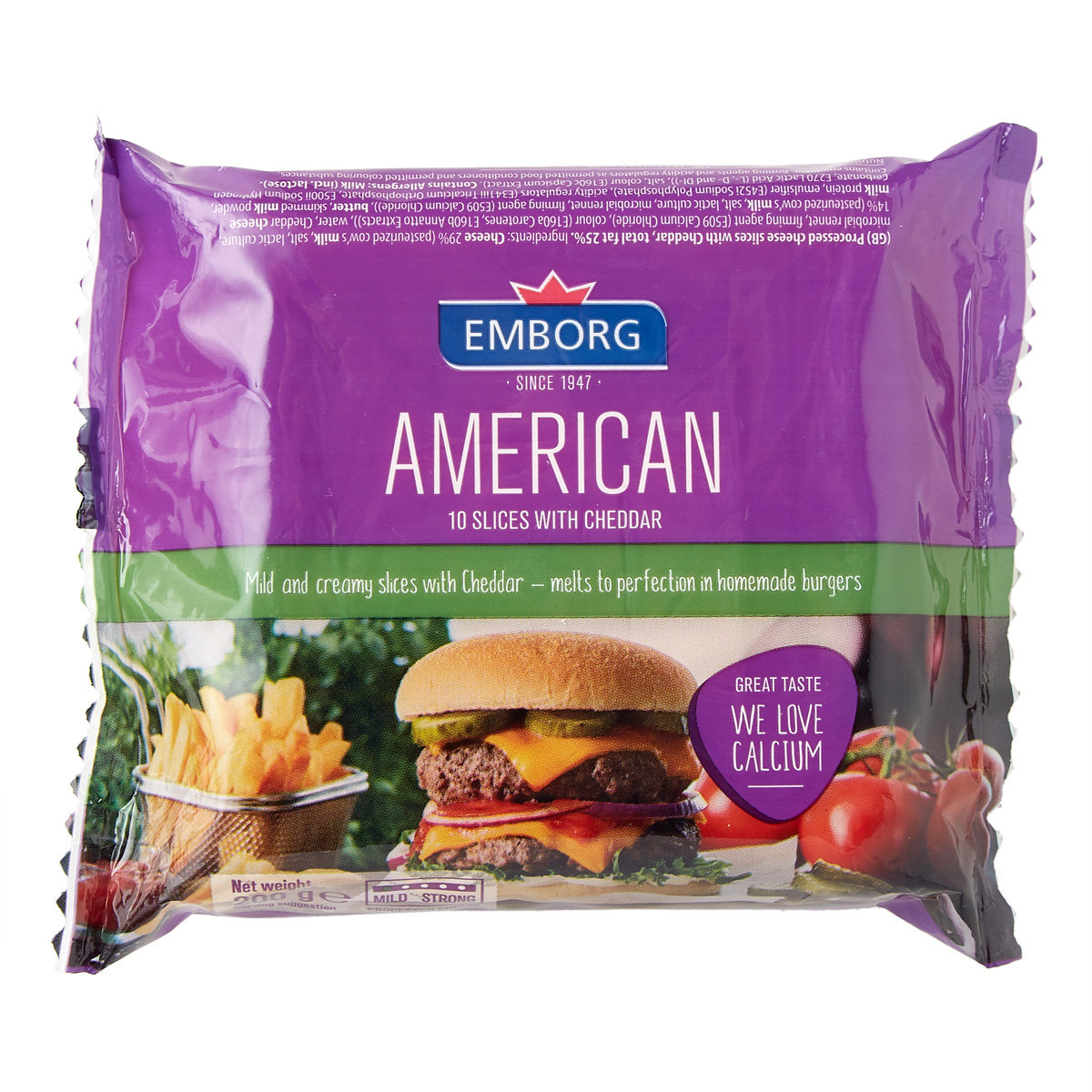 American Cheddar Processed Sliced Cheese (chilled)