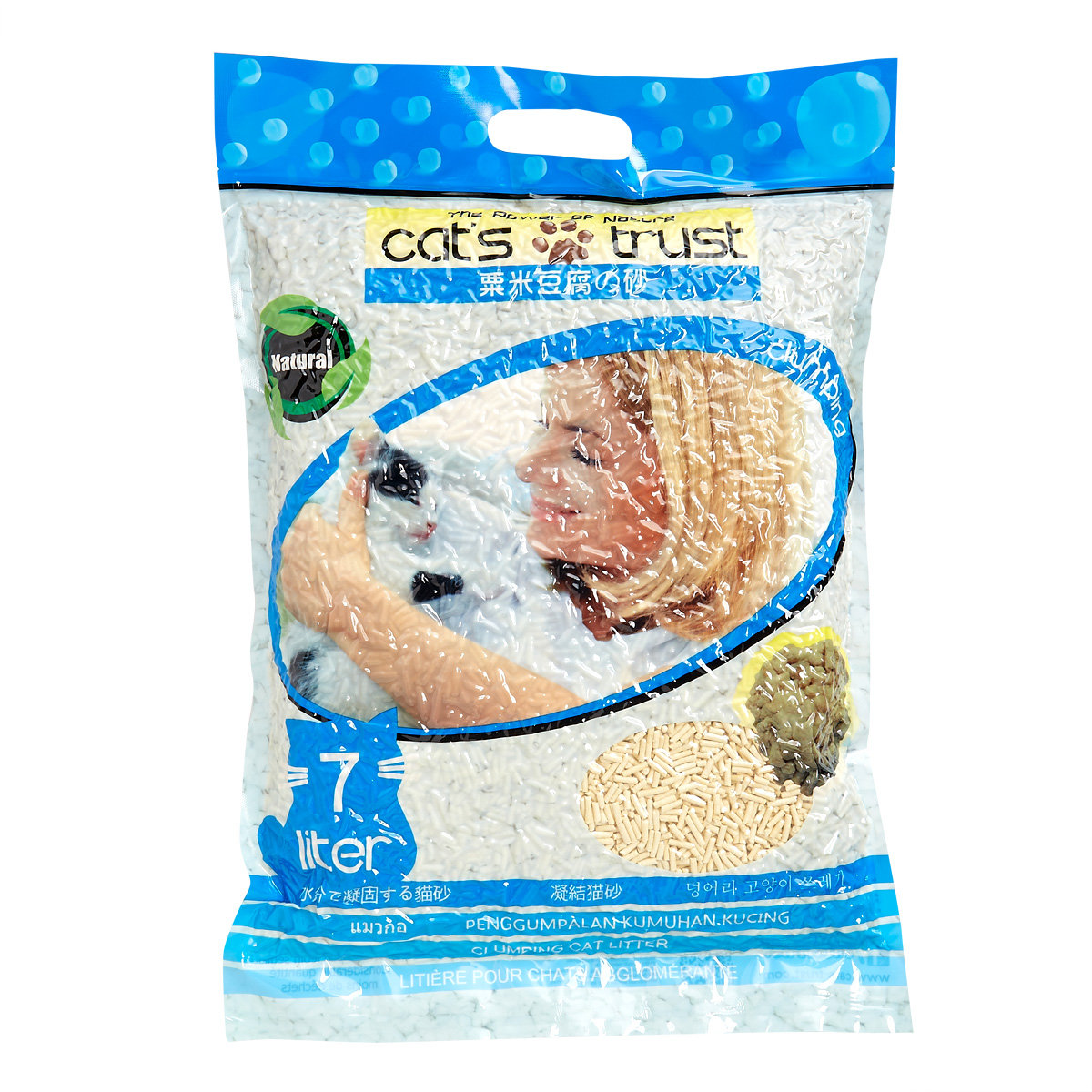 Corn-Tofu Cat Litter with Peaches 7L