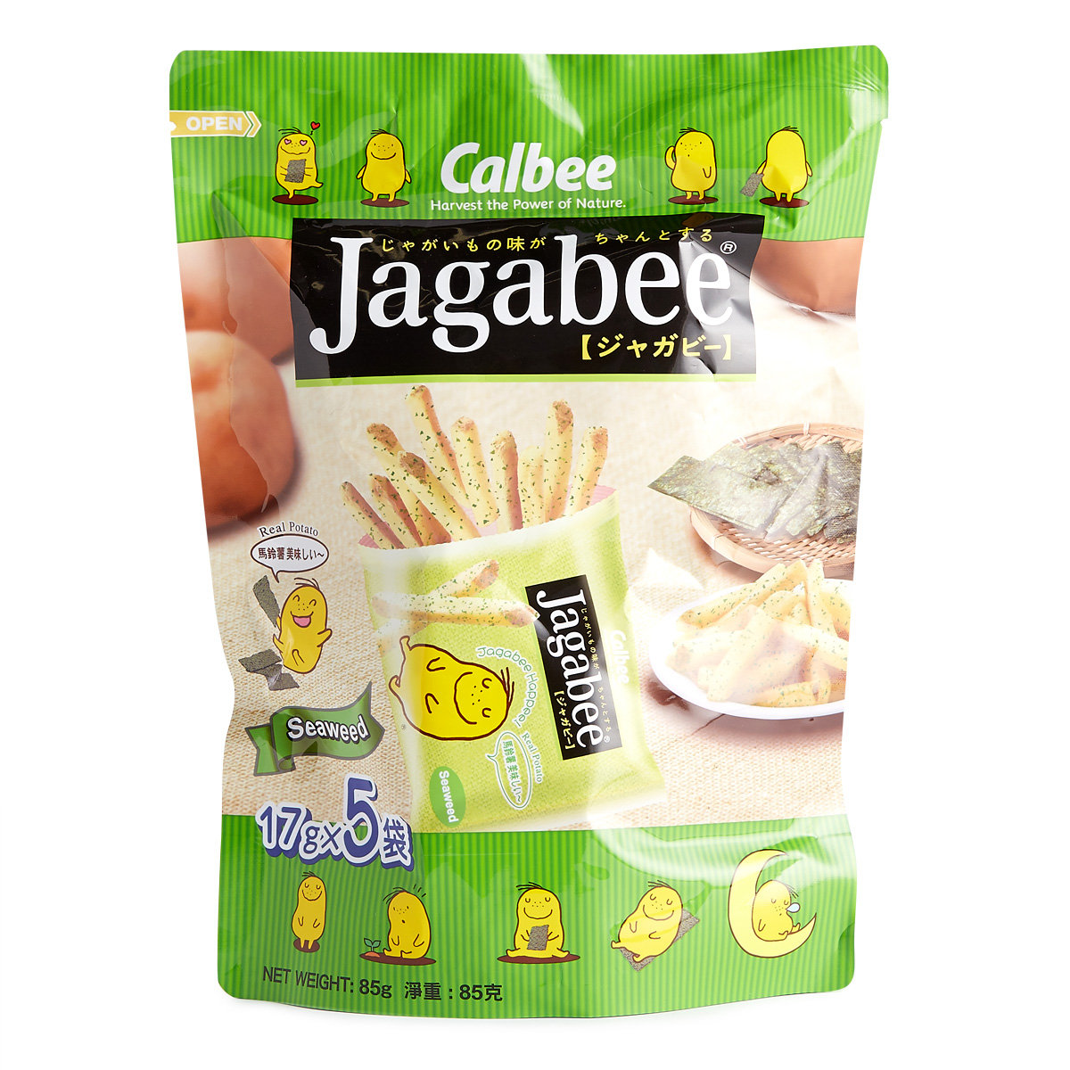 Jagabee Potato Sticks (Seaweed Flavoured) Standing Pouch