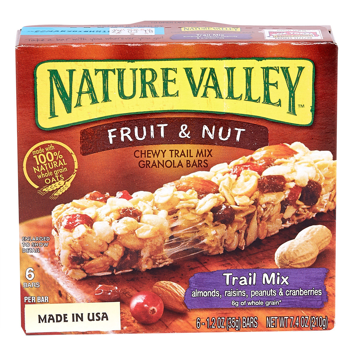 Chewy Granola Bar - Trail Mix Fruit & Nut