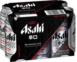 6罐裝啤酒(日本版) #Asahi #朝日 #Karakuchi #日本 #啤酒  350毫升 x 6
