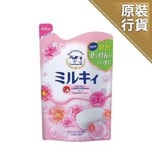 COW BRAND 牛奶精華沐浴露 (玫瑰花香) 補充裝 400毫升