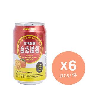 芒果味啤酒 x 6  #台灣啤酒  #水果啤酒 330毫升 x 6