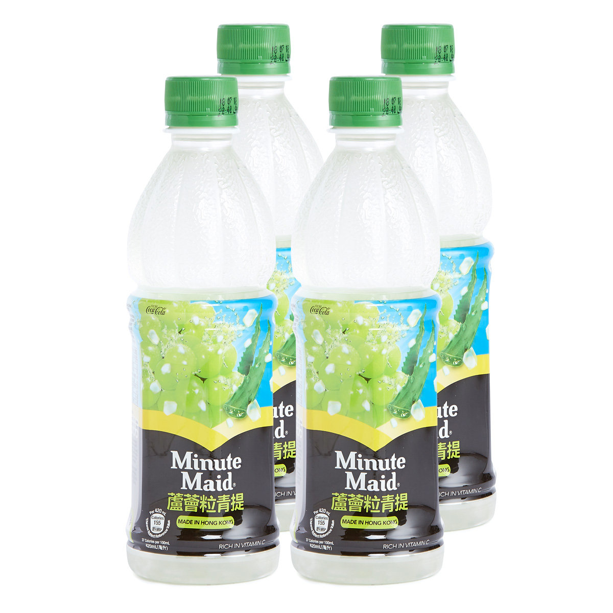 White Grape Juice Drink with Aloe Vera Pulps