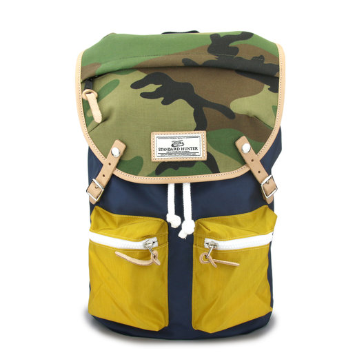 Sunny Backpack - Navy (Yellow, Camo)