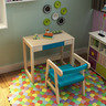 Children's Wooden Desk and Chair Set 016 Blue