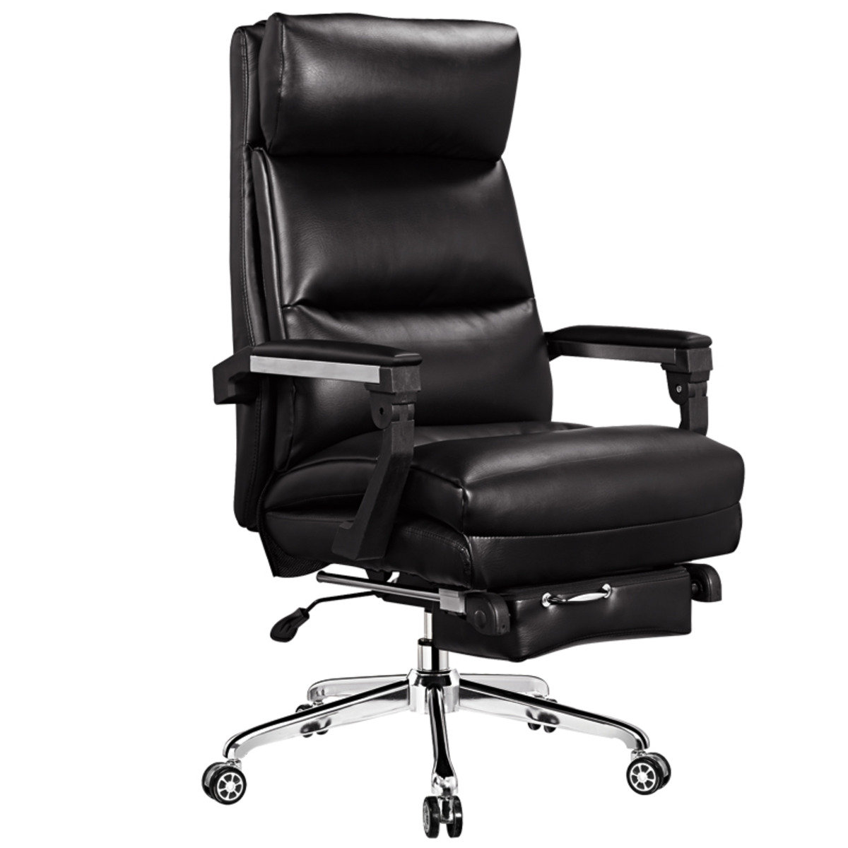PU LEATHER - Reclining Office Chair 2091 Black