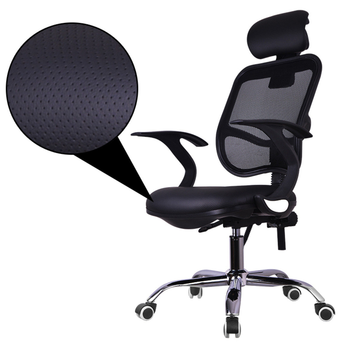 Ergonomic PU Office Chair with Headrest Mr-137B