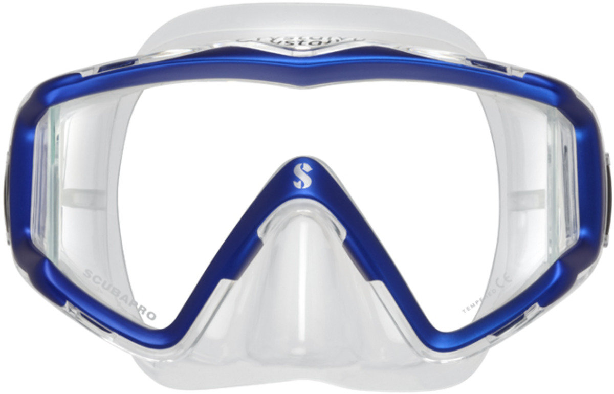 Dive Mask@@@ Crystal VU@@@ Metallic Blue/ Clear Skirt