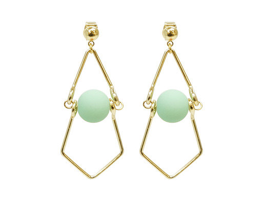 Mint Green Balls Earrings