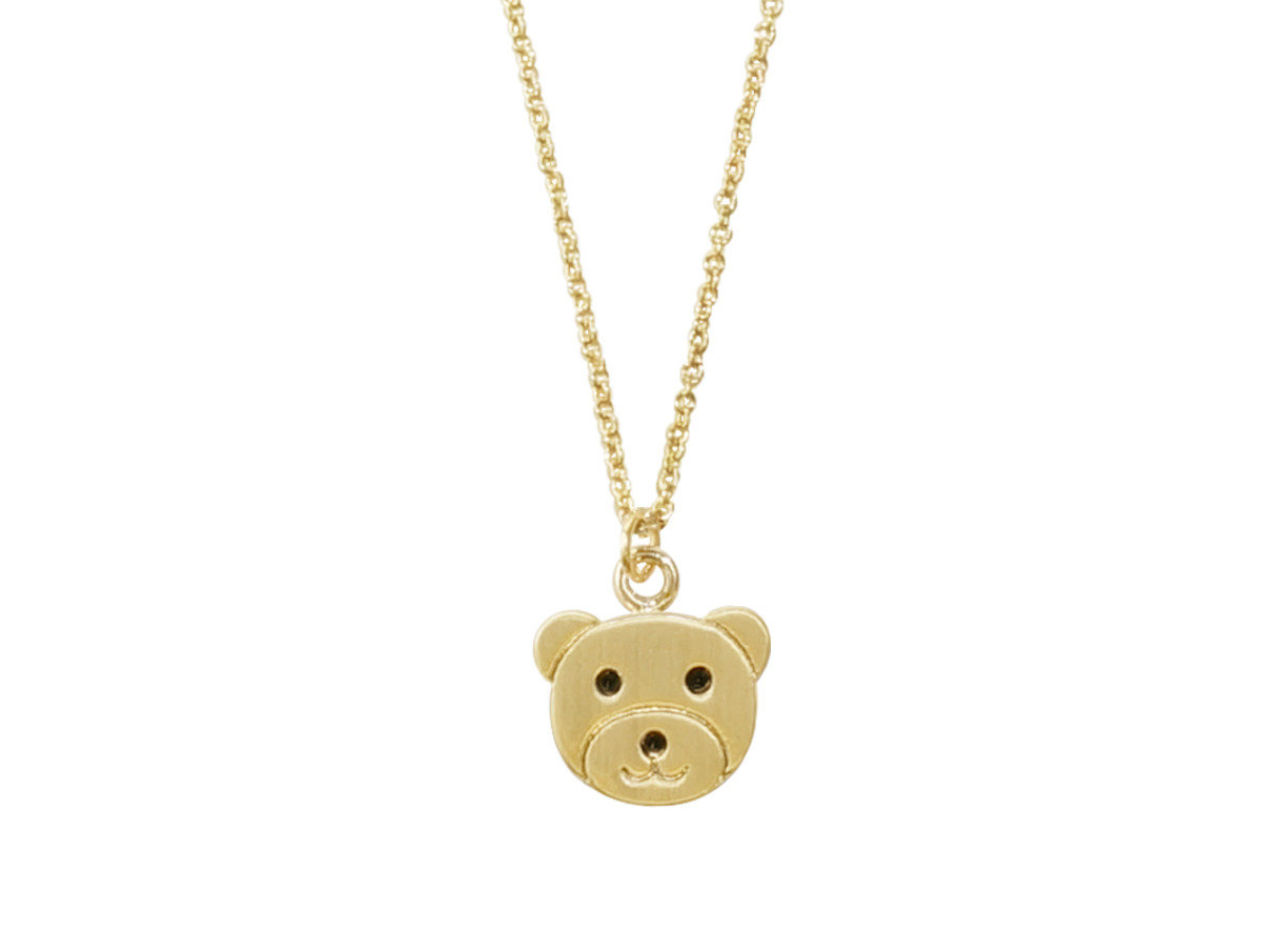 Happy Bear Necklace - Gold Color