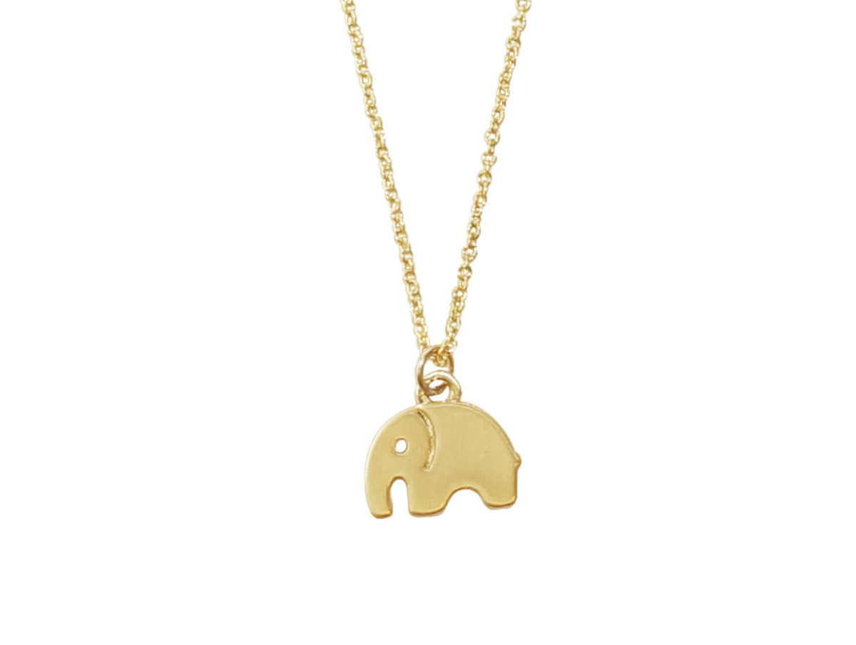 Lovely Elephant Necklace - Gold Color