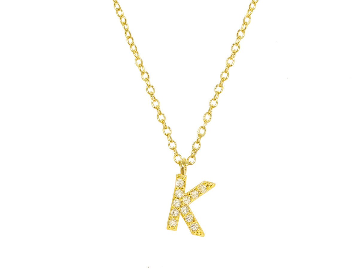 "Initial ""K"" Necklace"