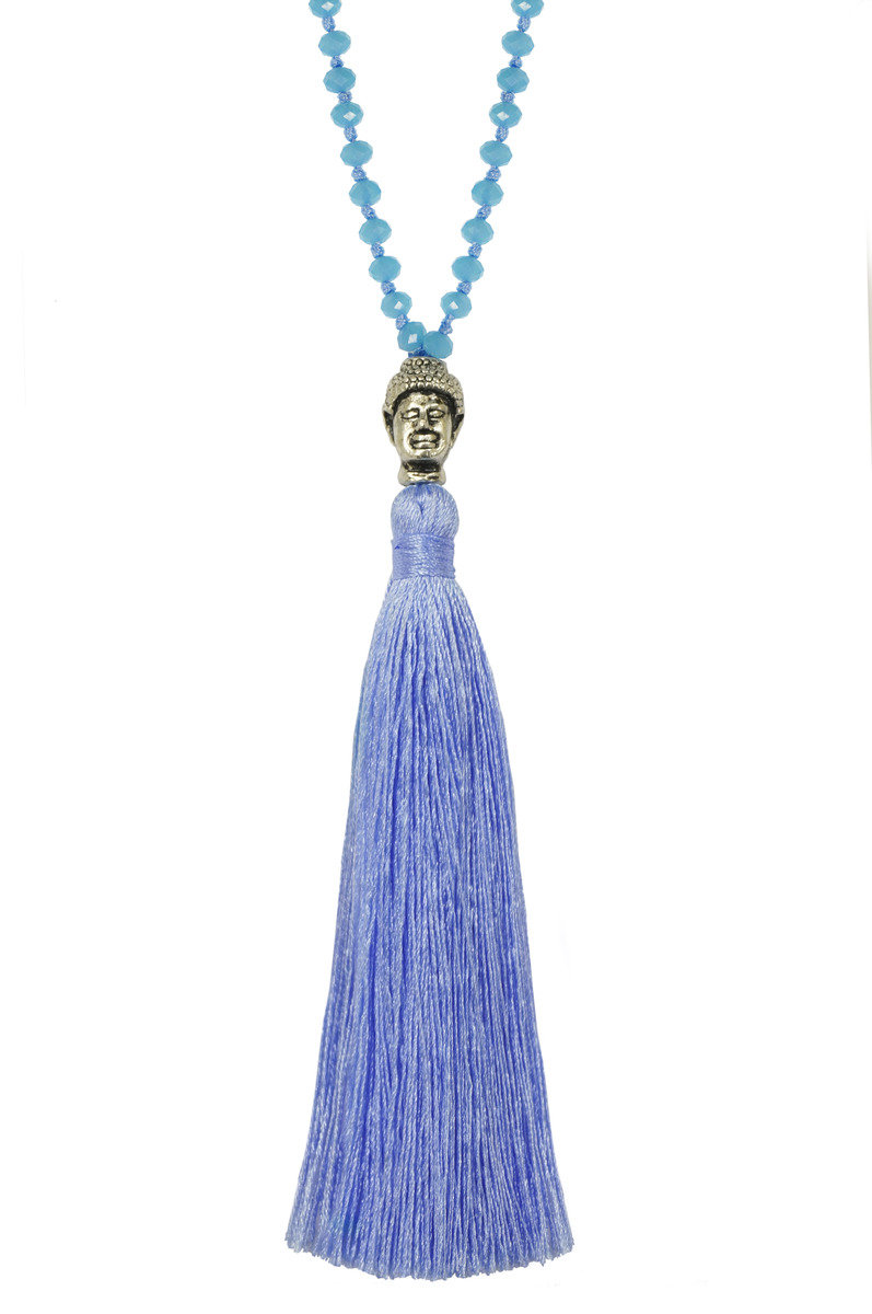 Tassel Necklace - Baby blue Color