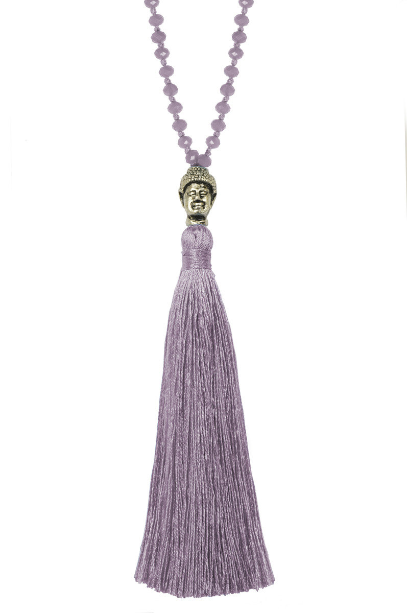 Tassel Necklace - Lavender Color