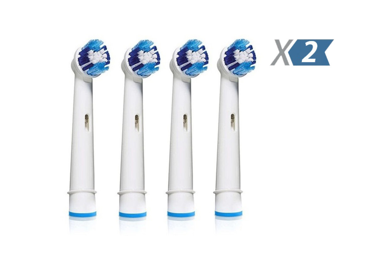 EB20 replacement toothbrush heads x 2
