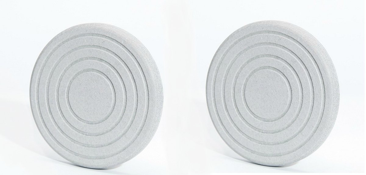 Diatomaceous Earth Cup Mat (Round, grey) x2