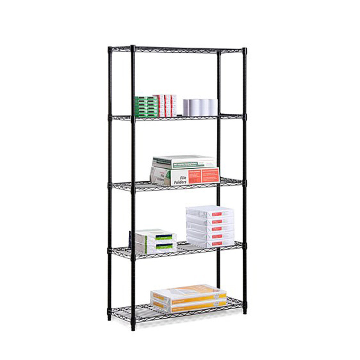 Expandable Five Tier Shelf (Black) - 54cm (RS954-01)