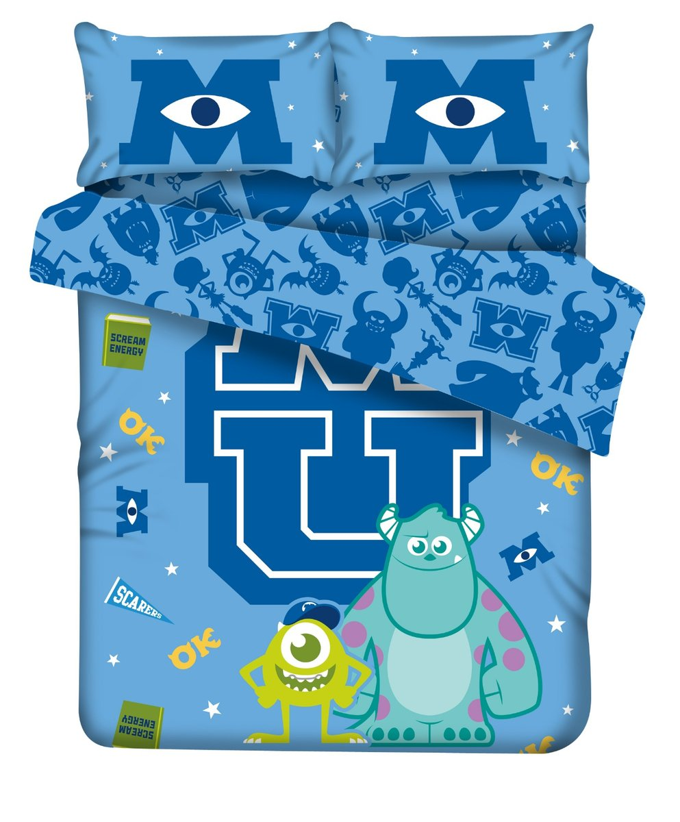 Disney 1915T bed set-Double (Monsters University-801) (Licensed by Disney)