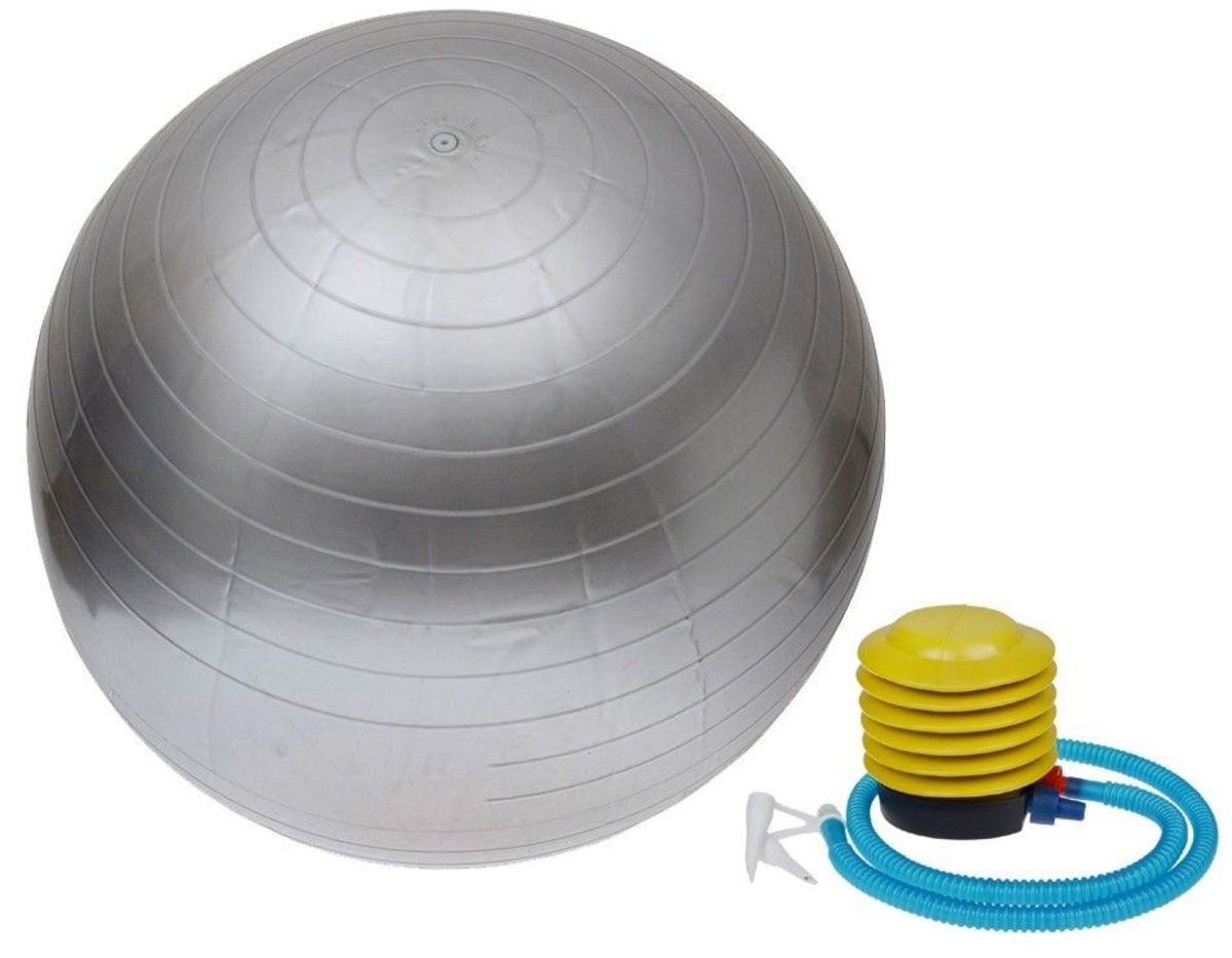 Yoga ball - silver with pump