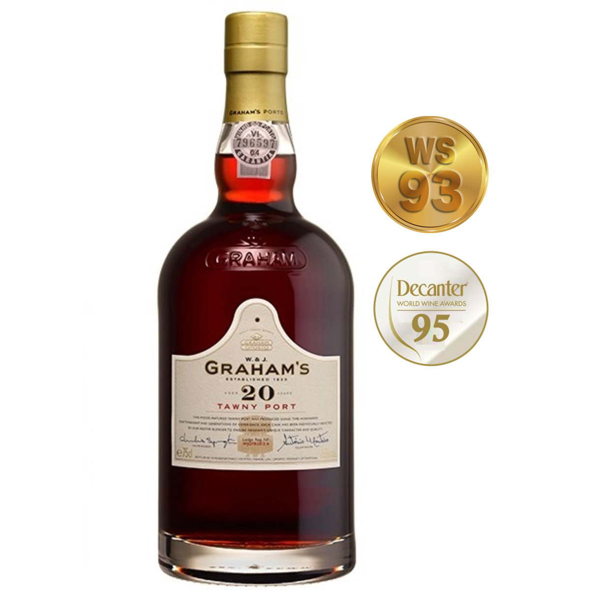 Grahams 20 years Tawny Port (禮盒裝) (WS 93, Decanter 95)
