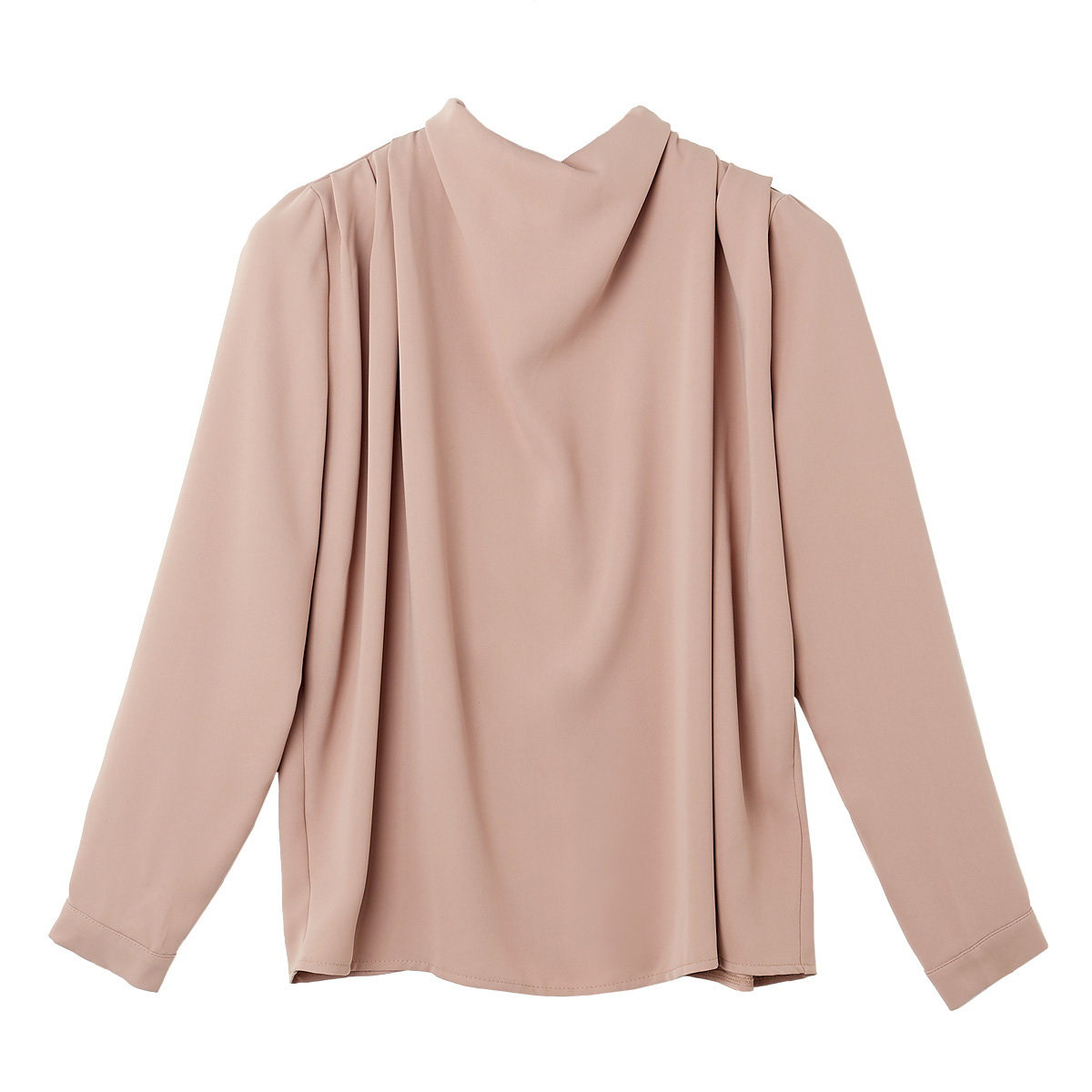 High-neck Ruched Blouse