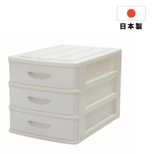 SCELTA 3 Layers Plastic Drawer - White