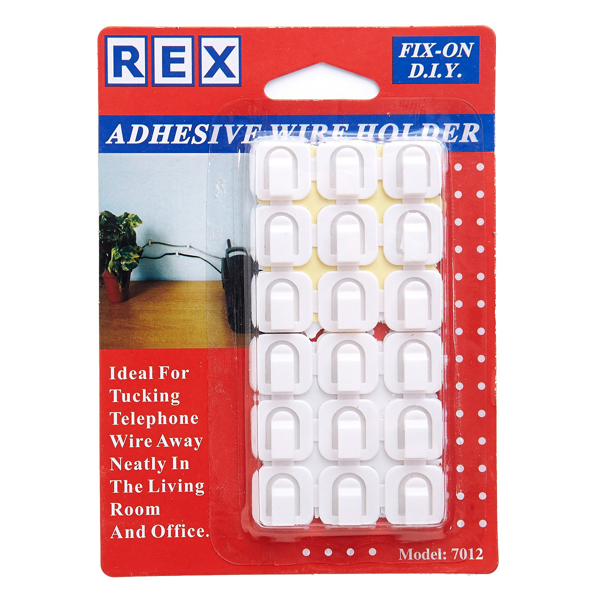 Adhesive Wire Holders