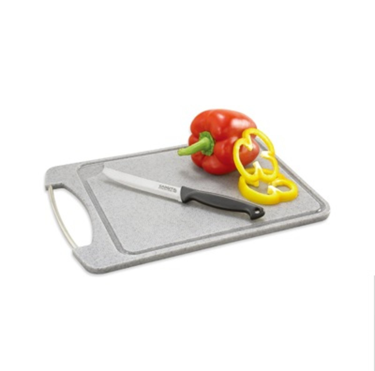 Cutting Board with Stainless Steel Handle 305 X 213 X 10 (mm)